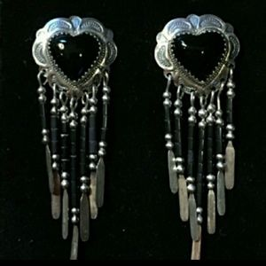 Carolyn Pollack Onyx Earrings